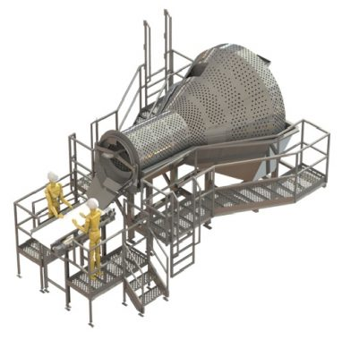 Custom meat washer machinery food processing industry