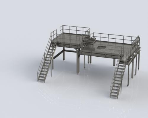 custom work platform inspection station food processing packaging industry